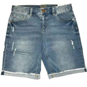 Justice Girls Bermuda Denim Shorts 14 NWT